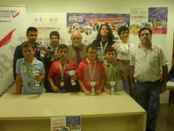 Vencedores del III Torneo Escolar Ausbanc